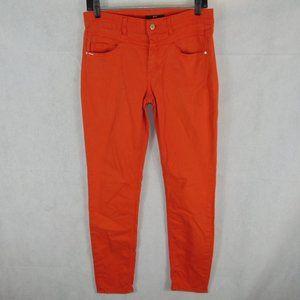 Hugo BOSS Slim Leg ankle Orange denim size 27